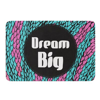Dream Big by Pom Graphic Design Bath Mat