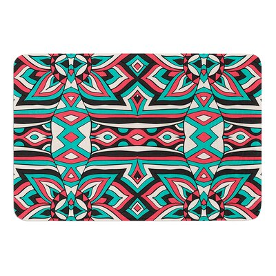 Ethnic Floral Mosaic by Pom Graphic Design Bath Mat