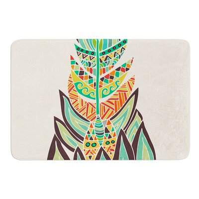 Tribal Feather by Pom Graphic Design Bath Mat