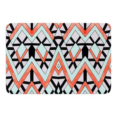 Geometric Mountains by Pom Graphic Design Bath Mat
