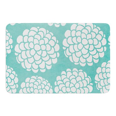 Hydrangeas Blossoms by Pom Graphic Design Bath Mat