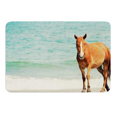 Wild Mustang of Carova by Robin Dickinson Bath Mat