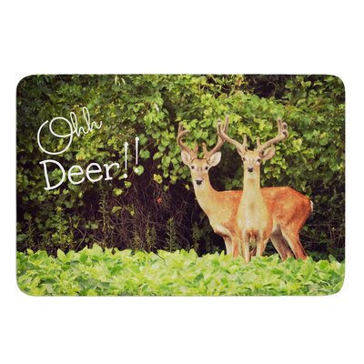 Ohh Deer by Robin Dickinson Bath Mat