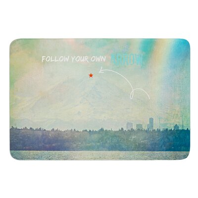 Follow Your Own Arrow by Robin Dickinson Bath Mat