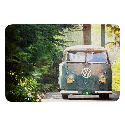 Peace Love Nature by Robin Dickinson Bath Mat