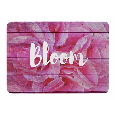Bloom Typography by Suzanne Carter Bath Mat