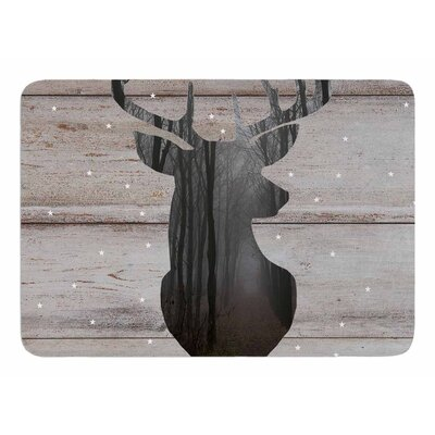 The Road - Woodgrain by Suzanne Carter Bath Mat