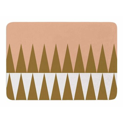 Peach Geo by Suzanne Carter Bath Mat