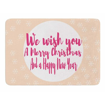 Merry Chistmas and Happy New Year by Suzanne Carter Bath Mat