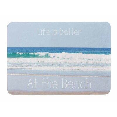 Life Is Better At The Beach by Sylvia Coomes Bath Mat