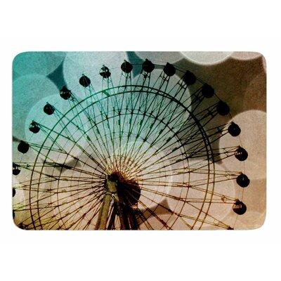 Ferris Wheel Silhouette by Sylvia Coomes Bath Mat