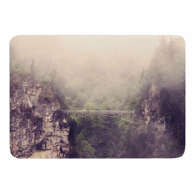 Foggy Mountain Landscape by Sylvia Coomes Bath Mat