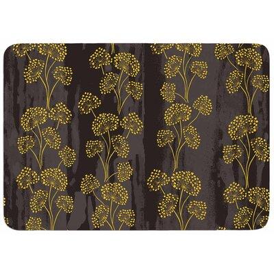 Textured Floral Elegance by Neelam Kaur Bath Mat