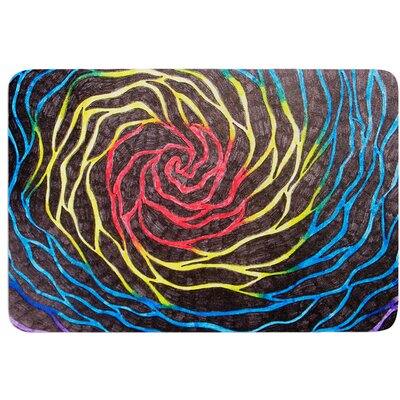 Rainbow Vortex by NL Designs Bath Mat