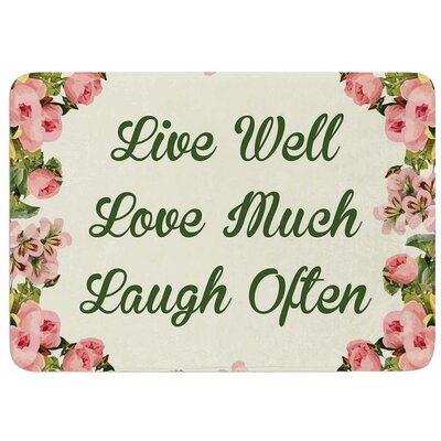 Live Love Laugh by NL Designs Bath Mat