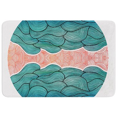 Ocean Flow by Pom Graphic Design Bath Mat