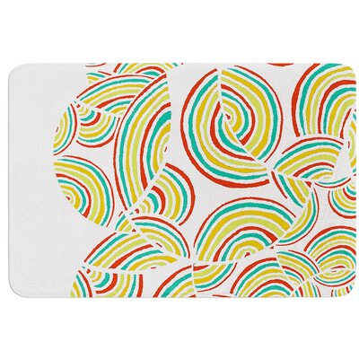 Rainbow Sky by Pom Graphic Design Bath Mat