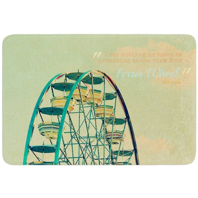 Ferris Wheel by Robin Dickinson Bath Mat