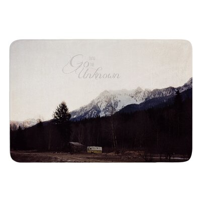 Go Into the Unknown by Robin Dickinson Bath Mat