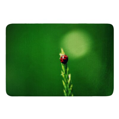 Ladybug Hugs by Robin Dickinson Bath Mat