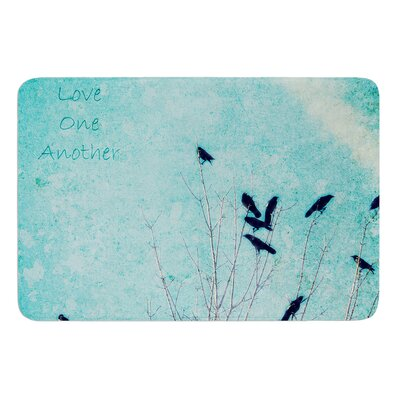 Love One Another by Robin Dickinson Bath Mat
