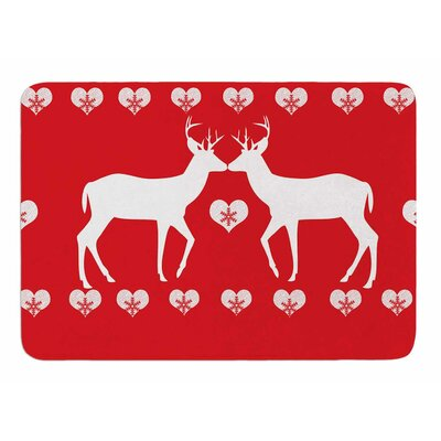 Christmas Deer 2 by Suzanne Carter Bath Mat