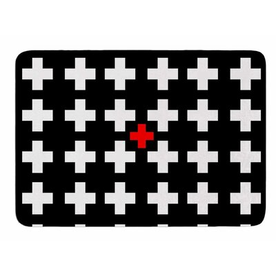 Swiss Cross by Suzanne Carter Bath Mat