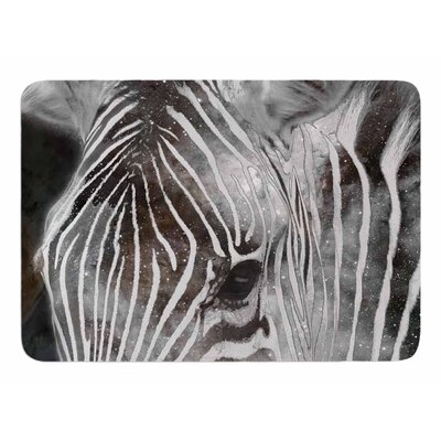 Space Zebra by Suzanne Carter Bath Mat