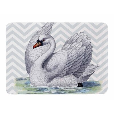 Vintage Swan by Suzanne Carter Bath Mat
