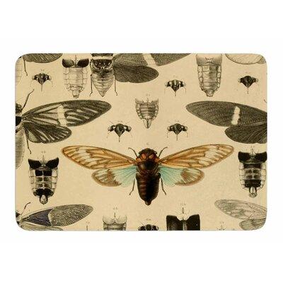 Vintage Cicada by Suzanne Carter Bath Mat
