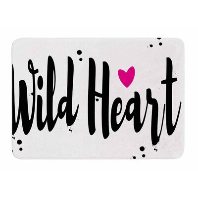 Wild Heart2 by Suzanne Carter Bath Mat