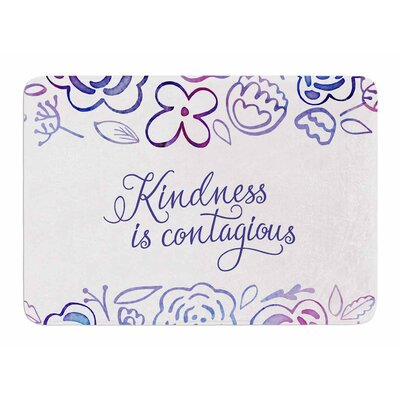 Kindness Is Contagious by Noonday Design Bath Mat