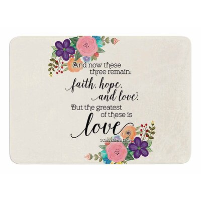 Faith, Hope, And Love by Noonday Design Bath Mat