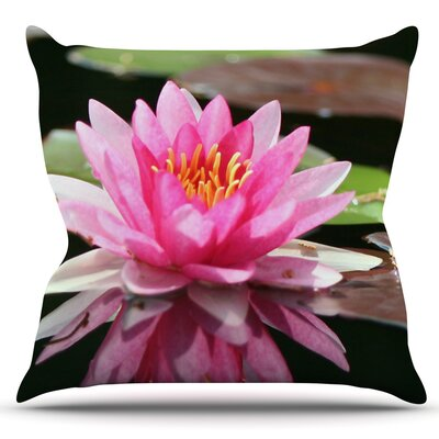 Water Lily by Angie Turner Outdoor Throw Pillow