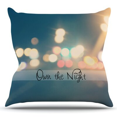 Own The Night by Beth Engel Outdoor Throw Pillow