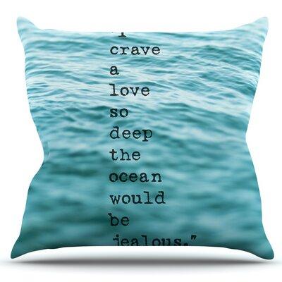 Crave Love by Debbra Obertanec Outdoor Throw Pillow