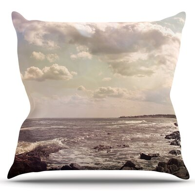 Rocky Coast by Debbra Obertanec Outdoor Throw Pillow