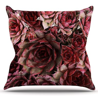 Succulents by Debbra Obertanec Outdoor Throw Pillow