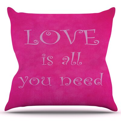 Love is all you need by Iris Lehnhardt Outdoor Throw Pillow