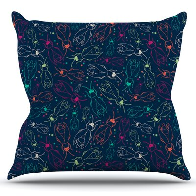 Fireflies Midnight Garden by Laura Escalante Outdoor Throw Pillow