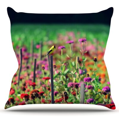Live in the Sunshine by Robin Dickinson Outdoor Throw Pillow