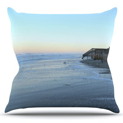 Sand Surf Sunshine by Robin Dickinson Outdoor Throw Pillow
