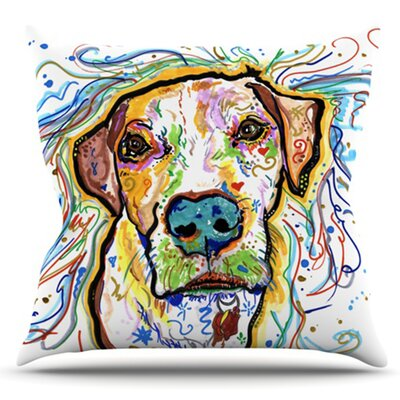 Ernie by Rebecca Fischer Outdoor Throw Pillow