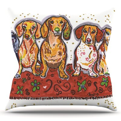 Maksim Murray Enzo Ruby and Willy by Rebecca Fischer Outdoor Throw Pillow