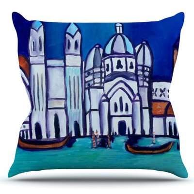 Venice by Theresa Giolzetti Outdoor Throw Pillow