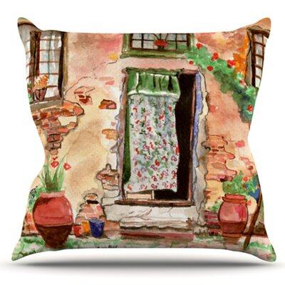 Tuscan Door by Theresa Giolzetti Outdoor Throw Pillow