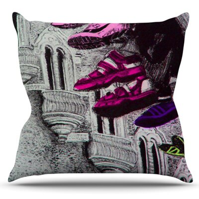 Shoes in SF by Theresa Giolzetti Outdoor Throw Pillow