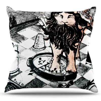King Leo by Theresa Giolzetti Outdoor Throw Pillow
