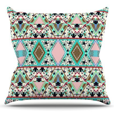 Deco Hippie by Vasare Nar Outdoor Throw Pillow