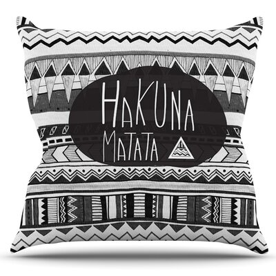 Hakuna Matata by Vasare Nar Outdoor Throw Pillow
